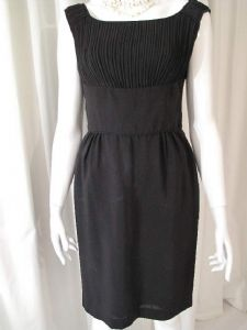 1960's Permanently pleated Black Tricel vintage shift dress ***SOLD***